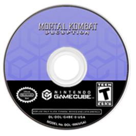 Artwork on the CD for Mortal Kombat: Deception on the Nintendo GameCube.