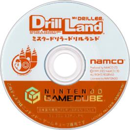 Artwork on the CD for Mr. Driller: Drill Land on the Nintendo GameCube.