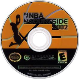 Artwork on the CD for NBA Courtside 2002 on the Nintendo GameCube.