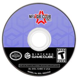 Artwork on the CD for NFL Quarterback Club 2002 on the Nintendo GameCube.