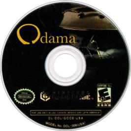 Artwork on the CD for Odama on the Nintendo GameCube.