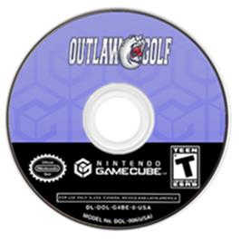 Artwork on the CD for Outlaw Golf on the Nintendo GameCube.