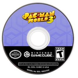 Artwork on the CD for Pac-Man World 3 on the Nintendo GameCube.