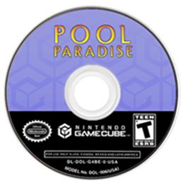 Artwork on the CD for Pool Paradise on the Nintendo GameCube.