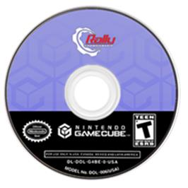 Artwork on the CD for Rally Championship on the Nintendo GameCube.