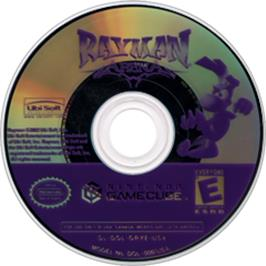 Artwork on the CD for Rayman Arena on the Nintendo GameCube.