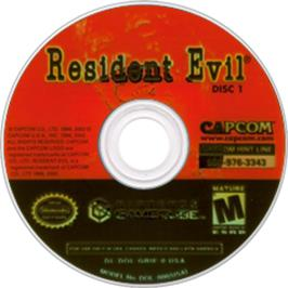 Artwork on the CD for Resident Evil: Code: Veronica X on the Nintendo GameCube.