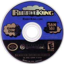 Artwork on the CD for Ribbit King on the Nintendo GameCube.