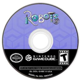Artwork on the CD for Robots on the Nintendo GameCube.