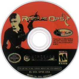 Artwork on the CD for Rogue Ops on the Nintendo GameCube.