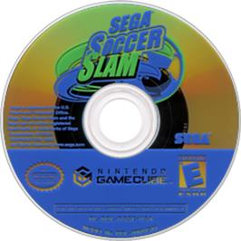 Artwork on the CD for Sega Soccer Slam on the Nintendo GameCube.