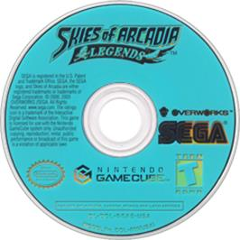 Artwork on the CD for Skies of Arcadia: Legends on the Nintendo GameCube.