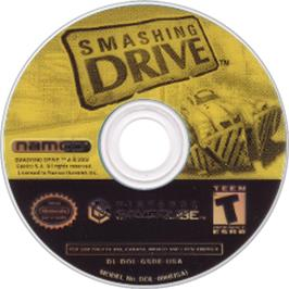 Artwork on the CD for Smashing Drive on the Nintendo GameCube.
