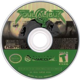 Artwork on the CD for SoulCalibur 2 on the Nintendo GameCube.