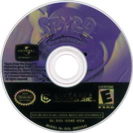 Artwork on the CD for Spyro: Enter the Dragonfly on the Nintendo GameCube.