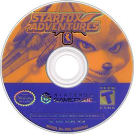Artwork on the CD for Star Fox Adventures on the Nintendo GameCube.
