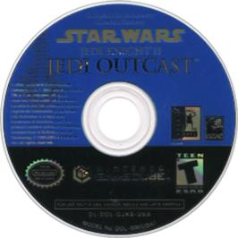 Artwork on the CD for Star Wars: Jedi Knight II - Jedi Outcast on the Nintendo GameCube.