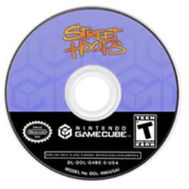 Artwork on the CD for Street Hoops on the Nintendo GameCube.