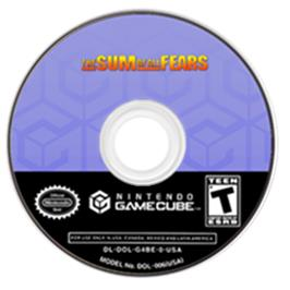 Artwork on the CD for Sum of All Fears on the Nintendo GameCube.