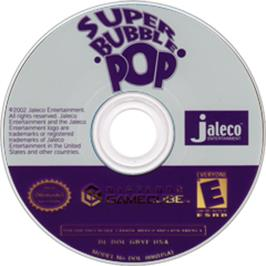 Artwork on the CD for Super Bubble Pop on the Nintendo GameCube.
