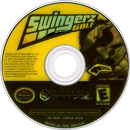Artwork on the CD for Swingerz Golf on the Nintendo GameCube.