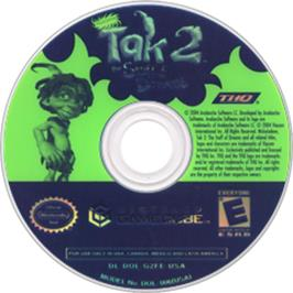 Artwork on the CD for Tak 2: The Staff of Dreams on the Nintendo GameCube.