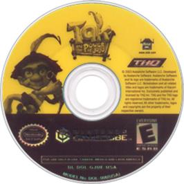 Artwork on the CD for Tak and the Power of Juju on the Nintendo GameCube.