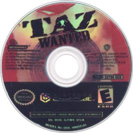 Artwork on the CD for Taz: Wanted on the Nintendo GameCube.
