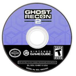 Artwork on the CD for Tom Clancy's Ghost Recon 2 on the Nintendo GameCube.