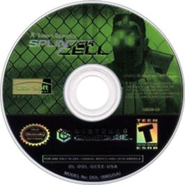 Artwork on the CD for Tom Clancy's Splinter Cell: Double Agent on the Nintendo GameCube.