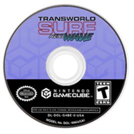 Artwork on the CD for TransWorld SURF: Next Wave on the Nintendo GameCube.