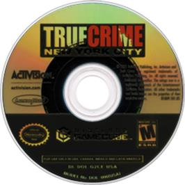 Artwork on the CD for True Crime: New York City on the Nintendo GameCube.