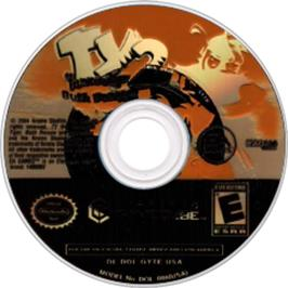 Artwork on the CD for Ty the Tasmanian Tiger 2: Bush Rescue on the Nintendo GameCube.