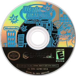 Artwork on the CD for WarioWare, Inc.: Mega Party Game$ on the Nintendo GameCube.