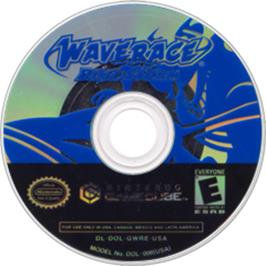 Artwork on the CD for Wave Race: Blue Storm on the Nintendo GameCube.