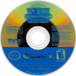 Artwork on the CD for Worms Blast on the Nintendo GameCube.