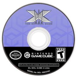 Artwork on the CD for X-Men: The Official Game on the Nintendo GameCube.