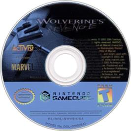 Artwork on the CD for X2: Wolverine's Revenge on the Nintendo GameCube.