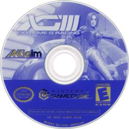 Artwork on the CD for XG3: Extreme G Racing on the Nintendo GameCube.