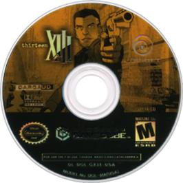Artwork on the CD for XIII on the Nintendo GameCube.