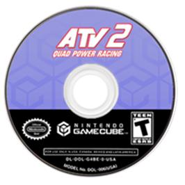 Artwork on the Disc for ATV: Quad Power Racing 2 on the Nintendo GameCube.