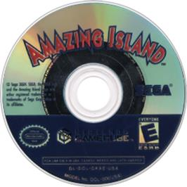 Artwork on the Disc for Amazing Island on the Nintendo GameCube.