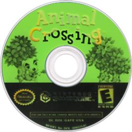 Artwork on the Disc for Animal Crossing on the Nintendo GameCube.