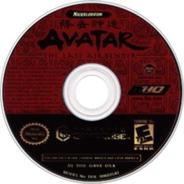 Artwork on the Disc for Avatar: The Last Airbender on the Nintendo GameCube.