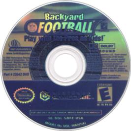 Artwork on the Disc for Backyard Football on the Nintendo GameCube.