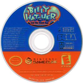 Artwork on the Disc for Billy Hatcher and the Giant Egg on the Nintendo GameCube.