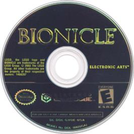 Artwork on the Disc for Bionicle on the Nintendo GameCube.
