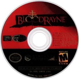 Artwork on the Disc for BloodRayne on the Nintendo GameCube.