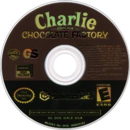 Artwork on the Disc for Charlie and the Chocolate Factory on the Nintendo GameCube.