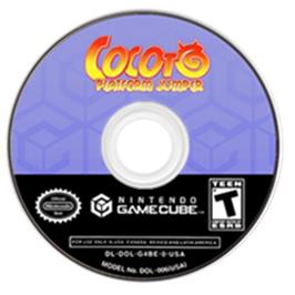 Artwork on the Disc for Cocoto Platform Jumper on the Nintendo GameCube.